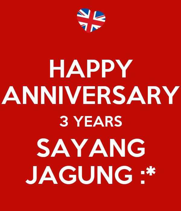 Happy anniversary years sayang jagung poster mely