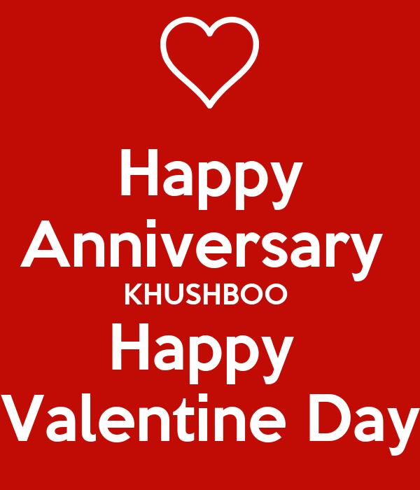 Happy Anniversary Khushboo Happy Valentine Day Poster Lokesh Shah