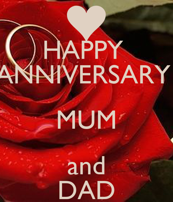 happy anniversary mum and dad poster and keep calm o matic. Black Bedroom Furniture Sets. Home Design Ideas
