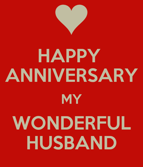 happy anniversary my husband