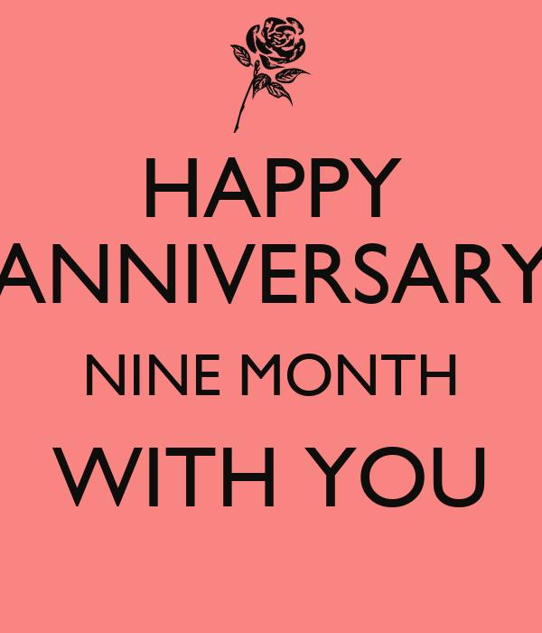Nine Month Anniversary Quotes Creativehobbyore
