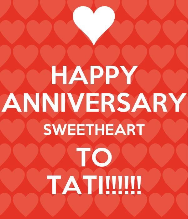 HAPPY ANNIVERSARY SWEETHEART TO TATI!!!!!! Poster  Jes  Keep Calm-o-Matic