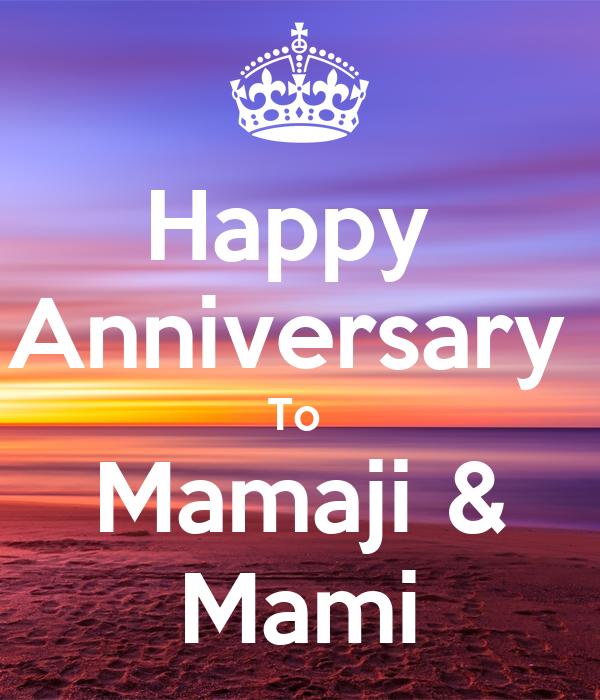 Happy Anniversary To Mamaji Mami Poster Anand Keep Calm O Matic