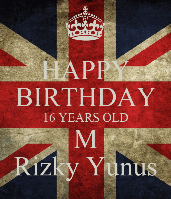 HAPPY BIRTHDAY 16 YEARS OLD M Rizky Yunus Poster