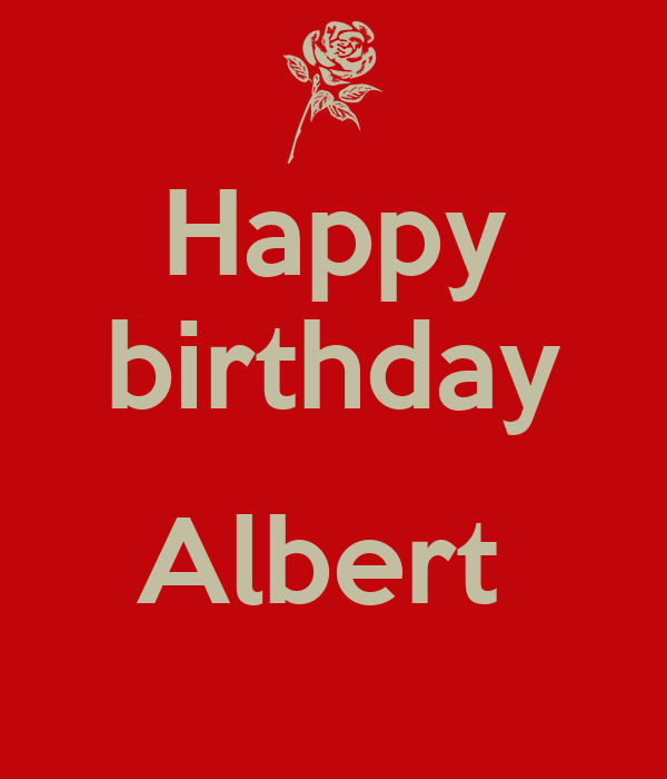 Happy Birthday Albert Poster