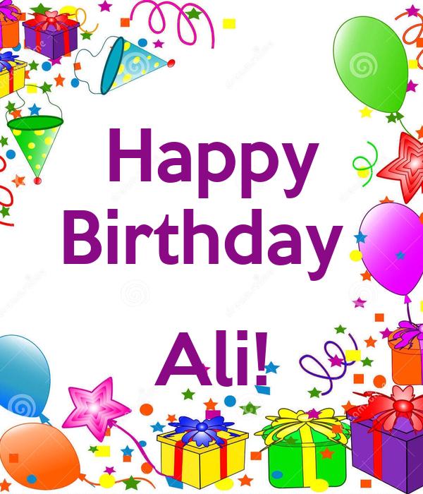 Happy Birthday Ali Poster Saba Keep Calm O Matic