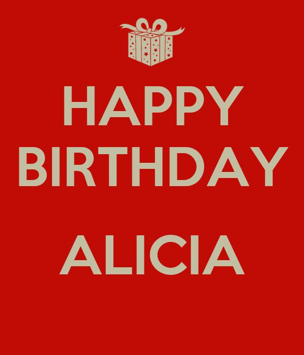 HAPPY BIRTHDAY ALICIA Poster
