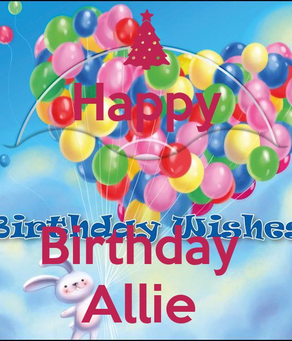 Happy Birthday Allie Poster