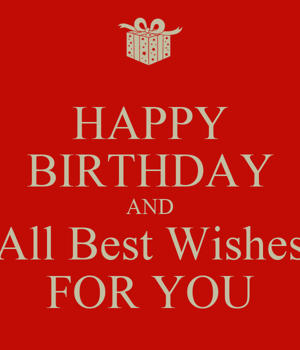 happy birthday and all best wishes for you poster const keep calm