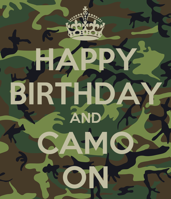 army camo birthday supplies