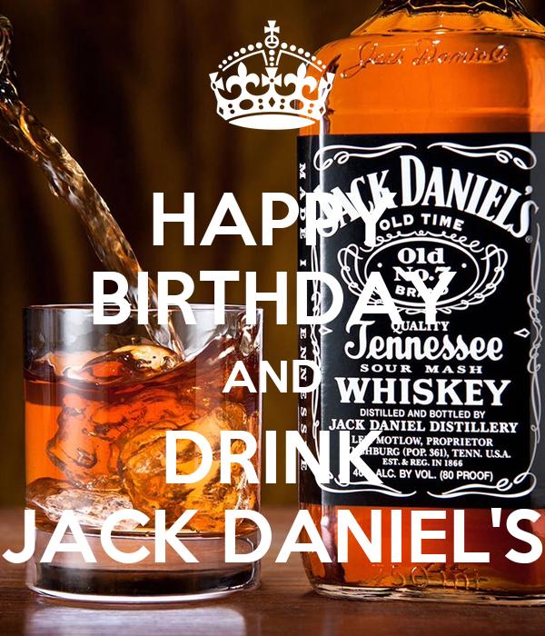 DRINK Posterlisyrre AND DANIEL'S JACK HAPPY BIRTHDAY 8PnwO0kX