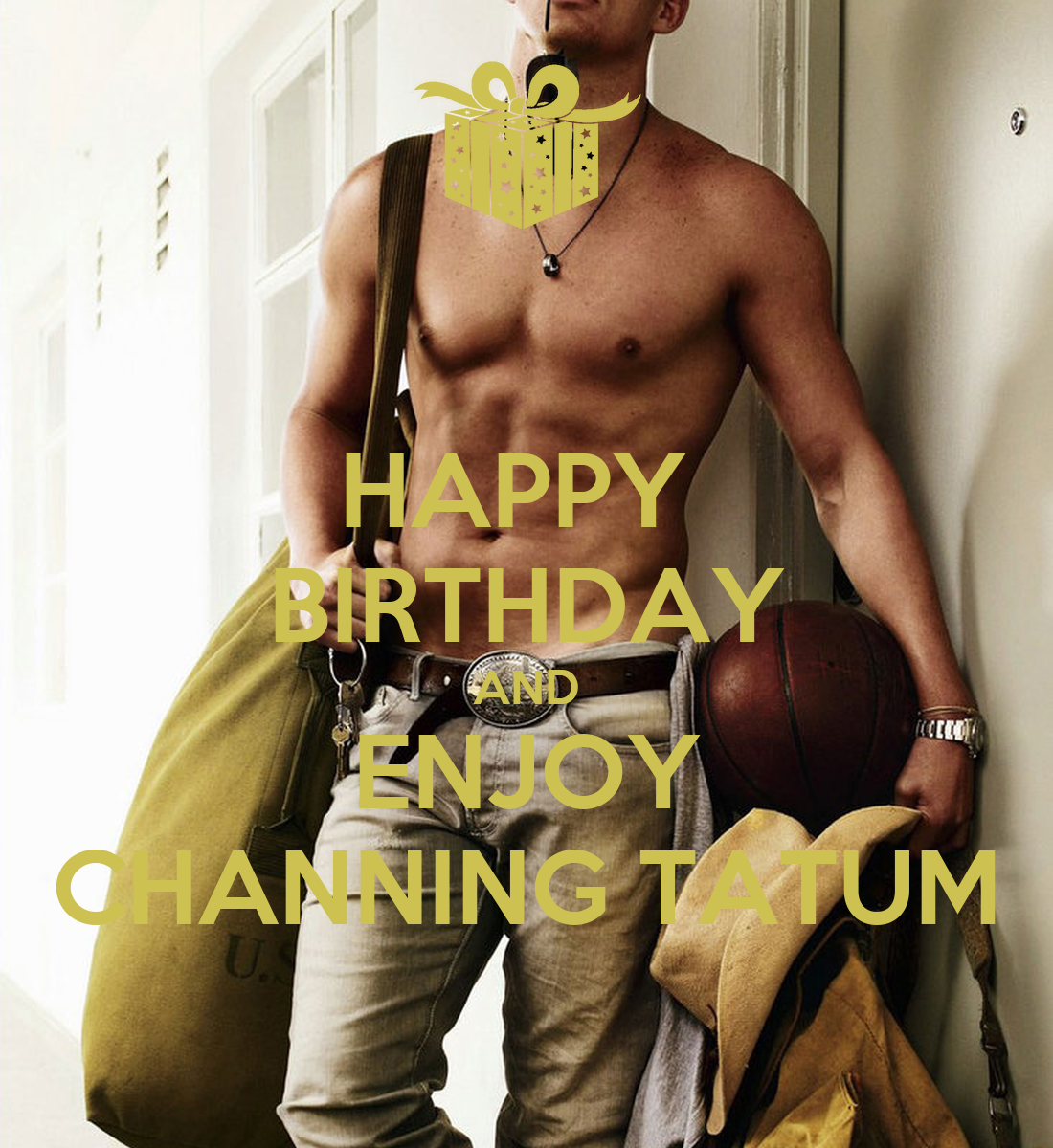 Happy birthday sexy man card