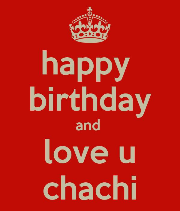 Happy Birthday And Love U Chachi Poster
