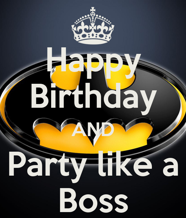 Happy Birthday AND Party Like A Boss Poster