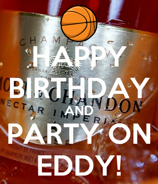 Happy Birthday And Party On Eddy Poster Buko Keep