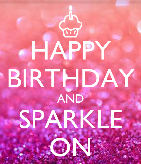 Happy Birthday And Sparkle On Poster Mutsimoto Keep