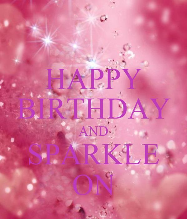 Pink Sparkle Birthday Cake