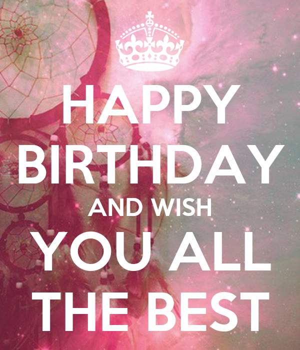 Happy Birthday And Wish You All The Best Poster Farashh Happy Birthday I Wish You All The Best In