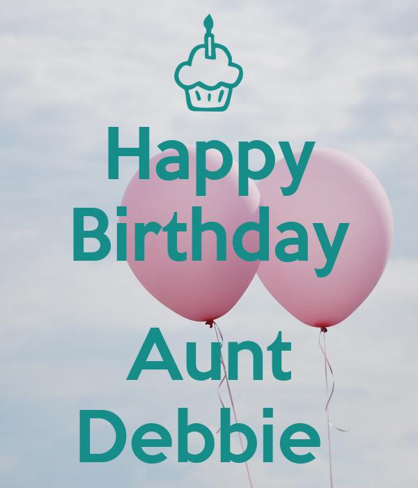 Happy Birthday Aunt Debbie Poster