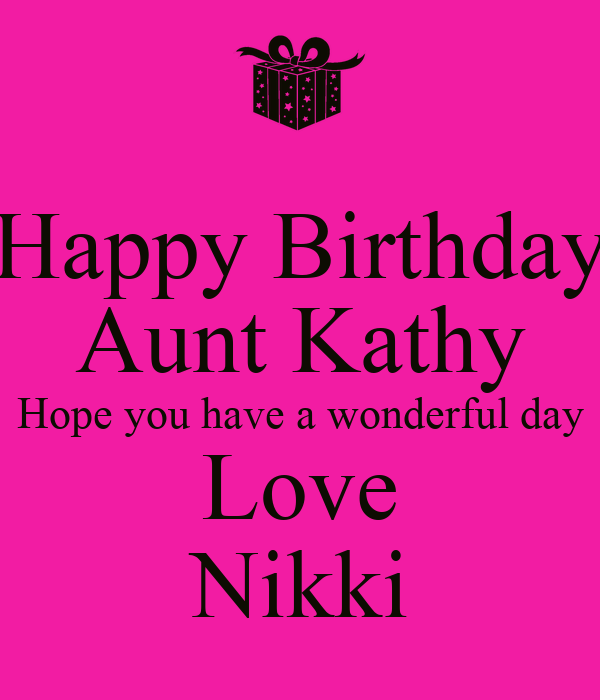 Aunt kathy loves