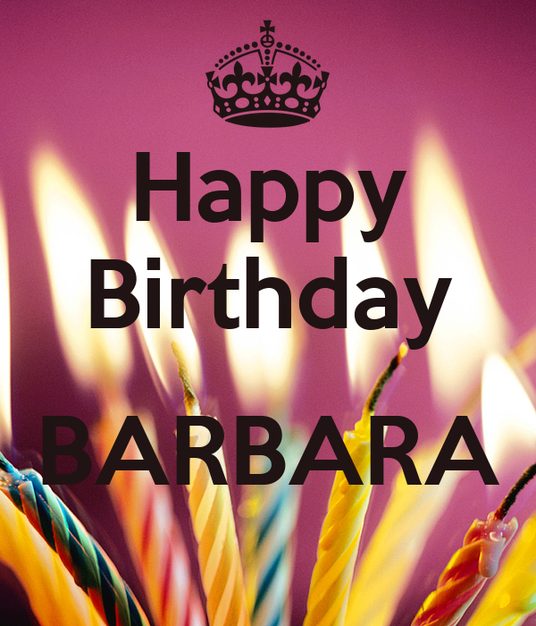 Image result for Happy Birthday Barbara