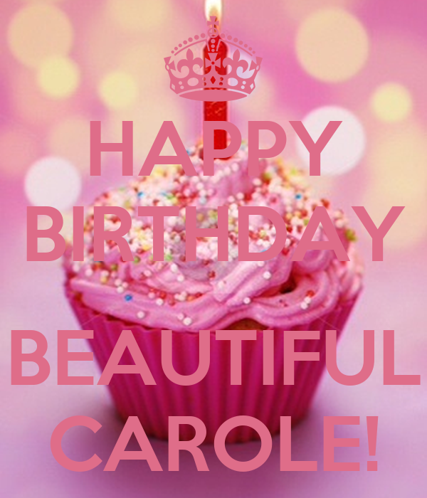 Happy Birthday Beautiful Carole Poster Janice Keep