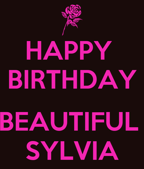 Happy Birthday Beautiful Sylvia Poster Yolanda Keep
