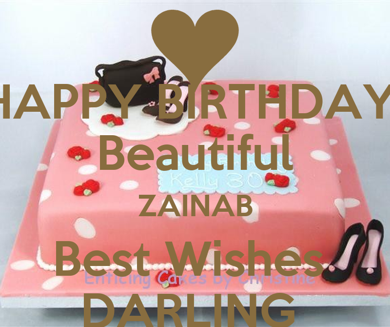 Happy Birthday Beautiful Zainab Best Wishes Darling Poster Dd