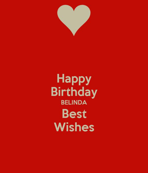 Happy Birthday BELINDA Best Wishes Poster