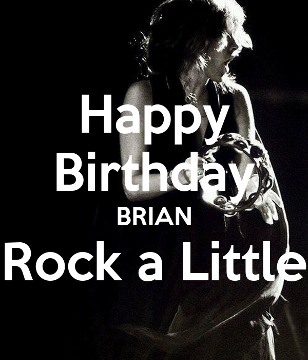 Happy Birthday BRIAN Rock A Little Poster