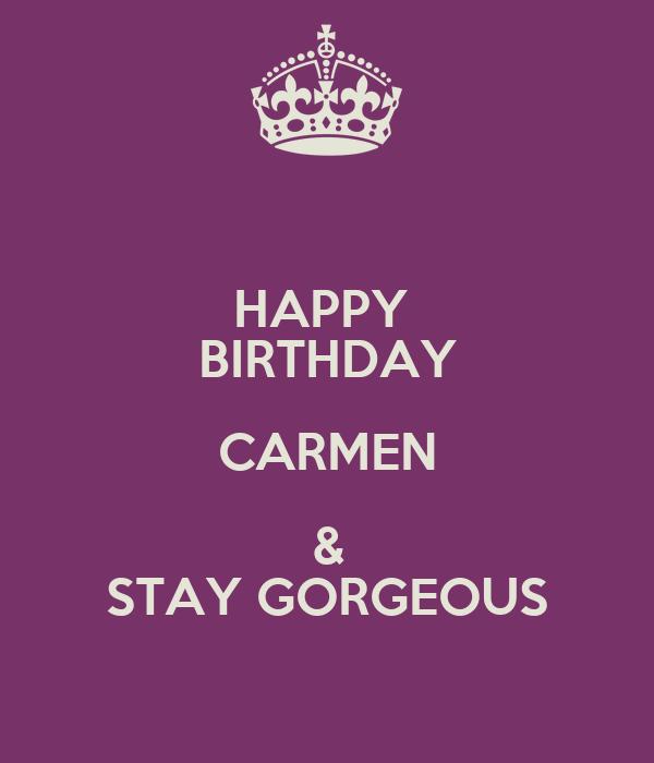 hd happy birthday carmen - photo #15