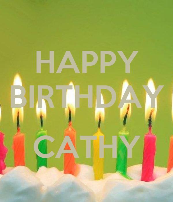 HAPPY BIRTHDAY CATHY Poster | . | Keep Calm-o-Matic
