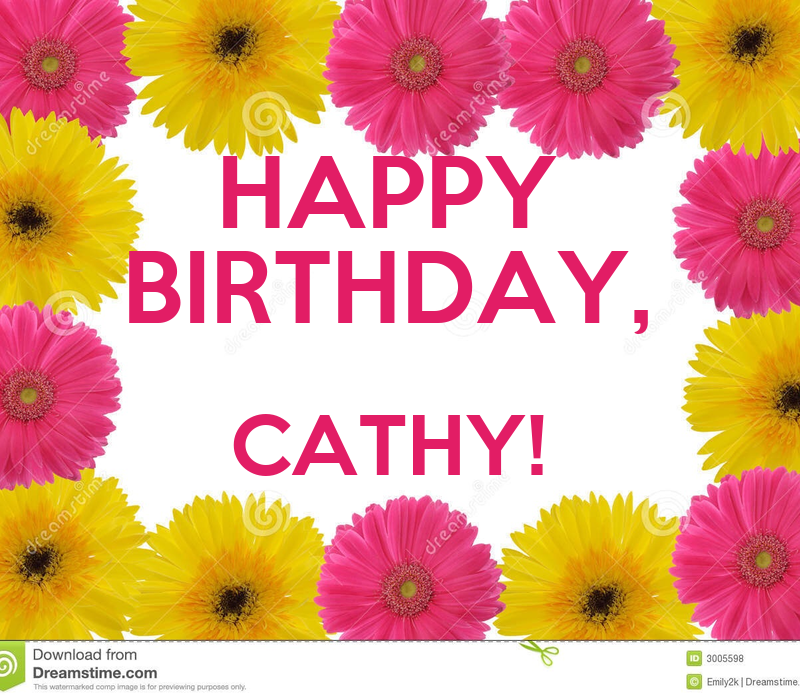 HAPPY BIRTHDAY, CATHY! Poster | K | Keep Calm-o-Matic