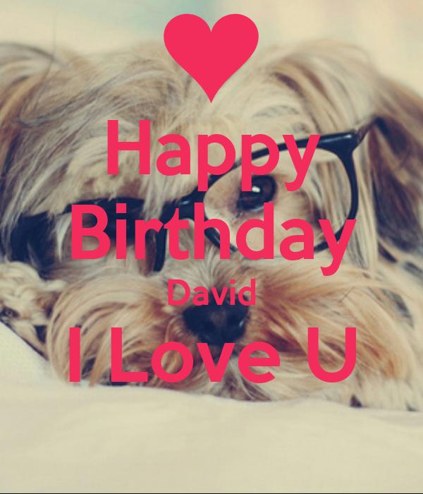 Happy Birthday David I Love U Poster