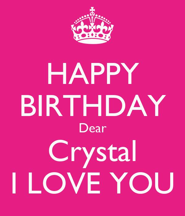 Happy Birthday Crystal Cake