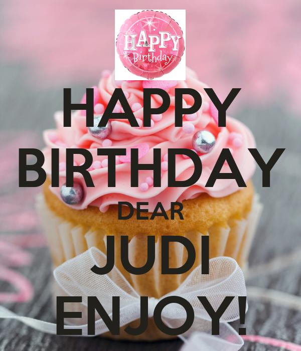 happy birthday dear judi enjoy poster lee keep calmo