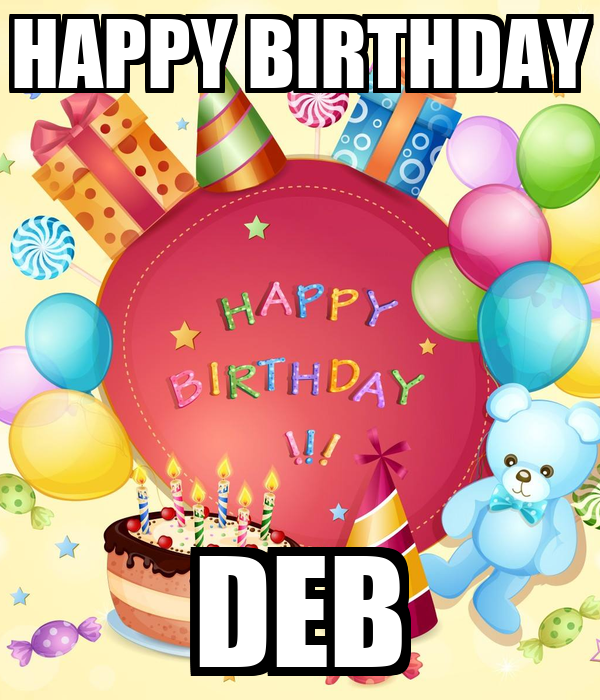 Happy Birthday Deb Cakes