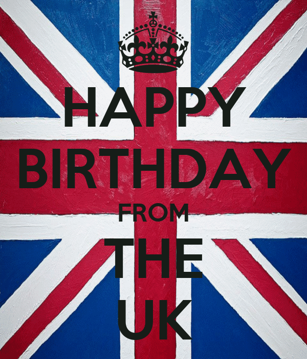 HAPPY BIRTHDAY FROM THE UK Poster