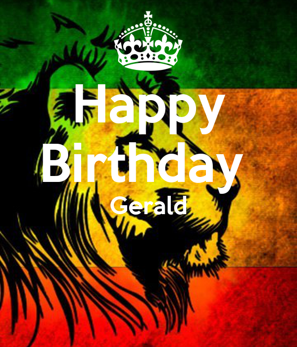 happy birthday gerald poster steve keep calm o matic. Black Bedroom Furniture Sets. Home Design Ideas