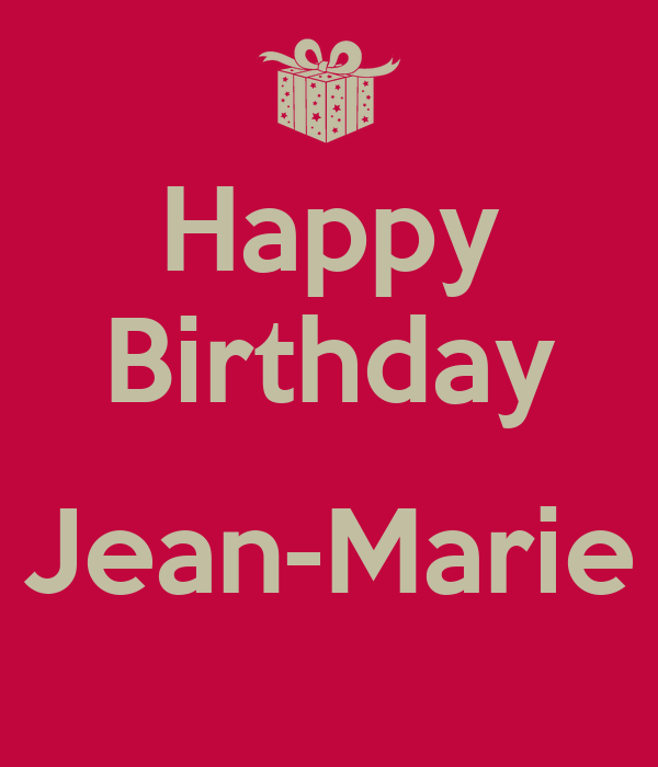 Happy Birthday Jean-Marie Poster