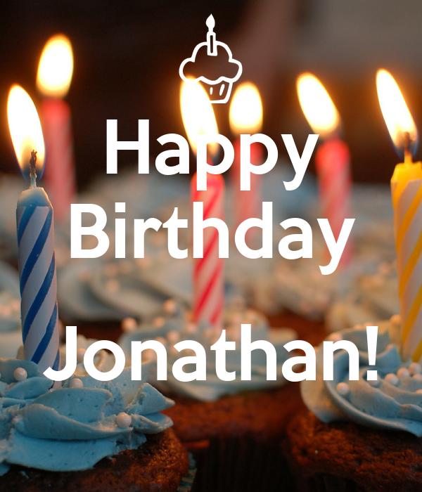 Happy Birthday Jonathan Poster Jonathan Keep Calm O Matic