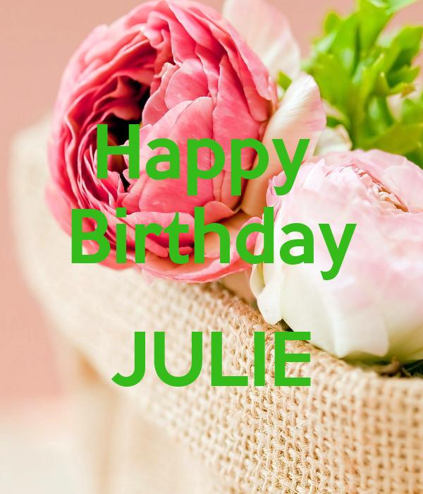 happy birthday julie