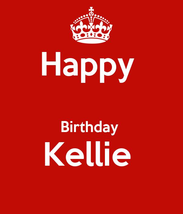 Happy Birthday Kellie Poster