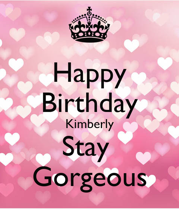 Happy Birthsday Kimberly Cake
