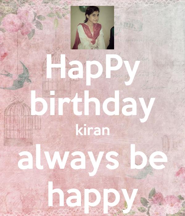 Always Happy Wallpaper Happy Birthday Kiran Always be