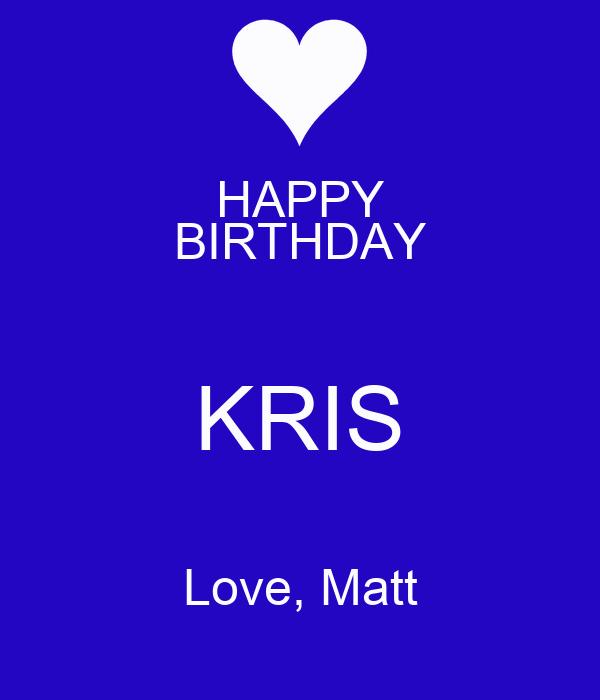 Kris happy birthday 3sum 6
