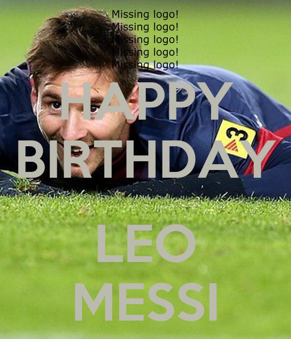 HAPPY BIRTHDAY LEO MESSI Poster