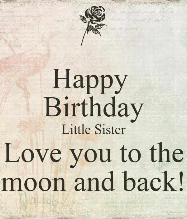 Happy Birthday Little Sister Love You To The Moon And Back Poster
