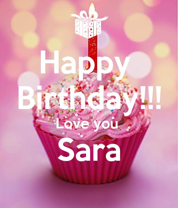 Happy Birthday Love You Sara Poster Nouha Keep Calm O Matic
