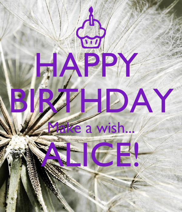 Happy Birthday Make A Wish Alice Poster Angv17 Happy Birthday Make A Wish